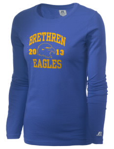Brethren Elementary School Eagles  Russell Women's Long Sleeve Campus T-Shirt