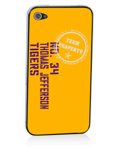 Thomas Jefferson Elder High School Tigers Apple iPhone 4/4S Skin