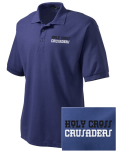 Holy Cross Crusaders Embroidered Men's Silk Touch Polo