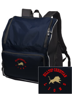 Hilltop Christian School Lions Embroidered Holloway Backpack