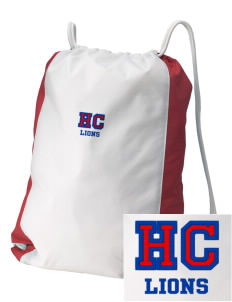 Hilltop Christian School Lions Embroidered Holloway Home and Away Cinch Bag