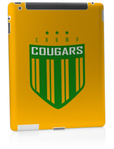 Crump Elementary School Cougars Apple iPad 2 Skin