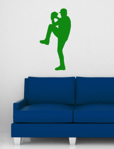 "Crump Elementary School Cougars Wall Silhouette Decal 20"" x 32"""