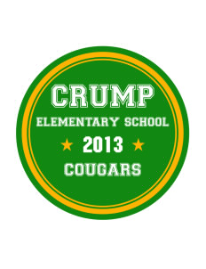 Crump Elementary School Cougars Sticker
