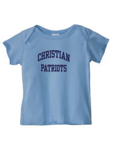 Christian Senior High School Patriots  Baby Lap Shoulder T-Shirt