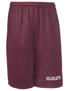 "Hawley Middle School Bearcats Long Mesh Shorts, 9"" Inseam"