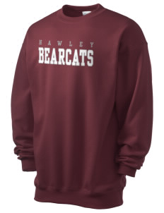 Hawley Middle School Bearcats Men's 7.8 oz Lightweight Crewneck Sweatshirt