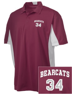 Hawley Middle School Bearcats Embroidered Men's Side Blocked Micro Pique Polo