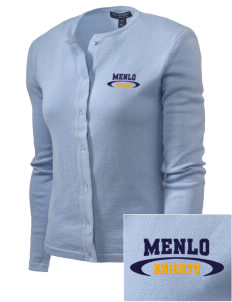 Menlo School Knights Embroidered Women's Cardigan Sweater