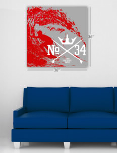 "The Carey School Eagles Wall Poster Decal 36"" x 36"""
