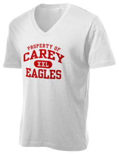 The Carey School Eagles Alternative Men's 3.7 oz Basic V-Neck T-Shirt