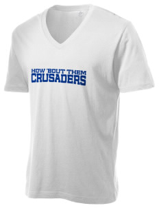 Trinity Lutheran School Crusaders Alternative Men's 3.7 oz Basic V-Neck T-Shirt