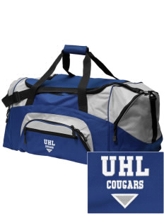 University Hills Lutheran School Cougars Embroidered Colorblock Duffel Bag