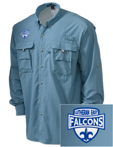 Lutheran High School East Falcons Embroidered Men's Explorer Shirt with Pockets