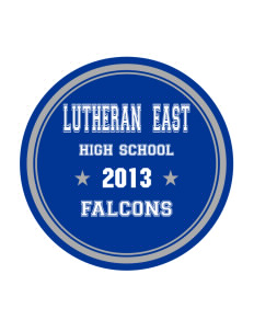 Lutheran High School East Falcons Sticker