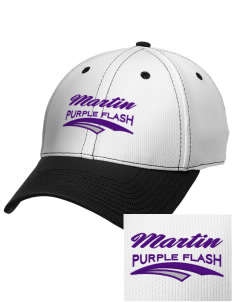 Martin High School Purple Flash Embroidered New Era Snapback Performance Mesh Contrast Bill Cap