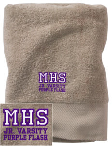 Martin High School Purple Flash Embroidered Zero Twist Resort Towel