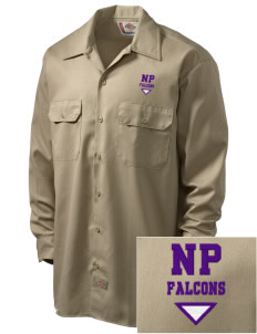 North Pointe Prep Falcons Embroidered Dickies Men's Long-Sleeve Workshirt