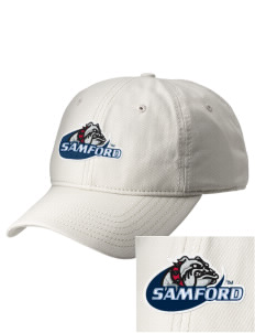 Samford University Bulldogs  Embroidered New Era Adjustable Unstructured Cap