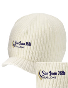 San Juan Hills High School Stallions Embroidered Knit Beanie with Visor