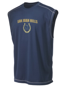 San Juan Hills High School Stallions Champion Men's 4.1 oz Double Dry Odor Resistance Muscle T-Shirt