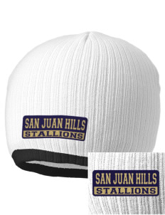 San Juan Hills High School Stallions Embroidered Champion Striped Knit Beanie