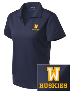 Whittier Elementary School Huskies Embroidered Women's Dri Mesh Polo