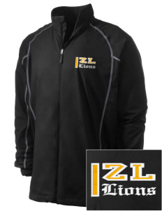 Zion Lutheran School Lions Embroidered Men's Nike Golf Full Zip Wind Jacket