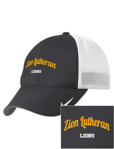 Zion Lutheran School Lions Embroidered Nike Golf Mesh Back Cap