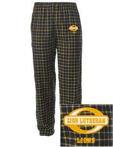 Zion Lutheran School Lions Embroidered Men's Button-Fly Collegiate Flannel Pant
