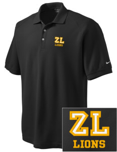 Zion Lutheran School Lions Embroidered Nike Men's Pique Knit Golf Polo