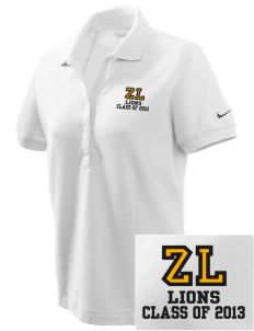 Zion Lutheran School Lions Embroidered Nike Women's Pique Golf Polo