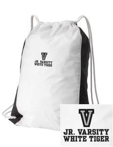 V.I.S.A White Tiger Embroidered Holloway Home and Away Cinch Bag