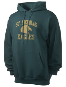 Saint Nicholas Catholic School Eagles Men's 7.8 oz Lightweight Hooded Sweatshirt