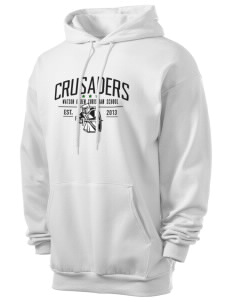 Watson Groen Christian School Crusaders Men's 7.8 oz Lightweight Hooded Sweatshirt