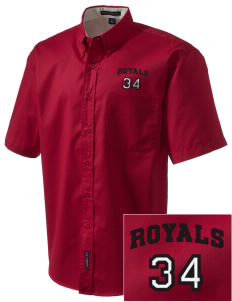 Queen Anne Christian School Royals Embroidered Men's Easy Care Shirt