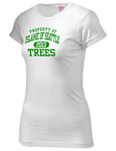 Islamic School Of Seattle Trees  Juniors' Fine Jersey Longer Length T-Shirt