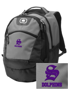 Soundview Private School Dolphins Embroidered OGIO Rogue Backpack