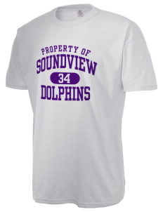 Soundview Private School Dolphins  Russell Men's NuBlend T-Shirt