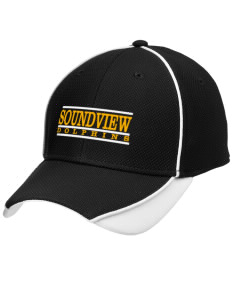 Soundview Private School Dolphins Embroidered New Era Contrast Piped Performance Cap
