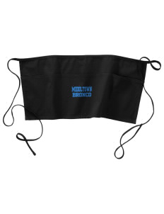 Middltown Middle School bronco Waist Apron with Pockets