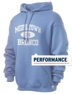Middltown Middle School bronco Russell Men's Dri-Power Hooded Sweatshirt
