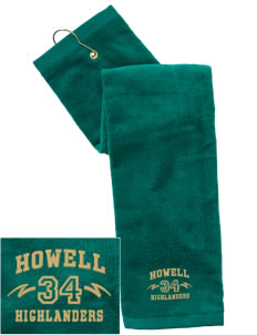 Howell High School Highlanders Embroidered Hand Towel with Grommet