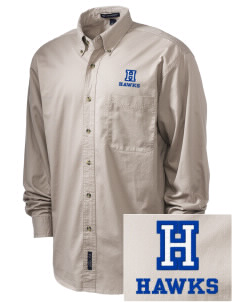 Hollywood Elementary School Hawks Embroidered Tall Men's Twill Shirt