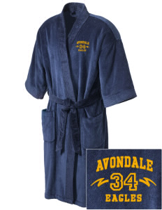 Avondale Elementary School Eagles Embroidered Terry Velour Robe