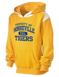 Monroeville Elementary School Tigers Kid's Pullover Hooded Sweatshirt with Contrast Color