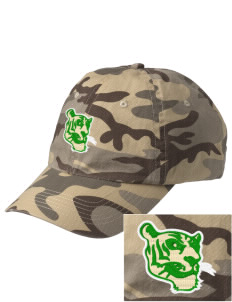 Mount Olive Elementary School Tigers Embroidered Camouflage Cotton Cap