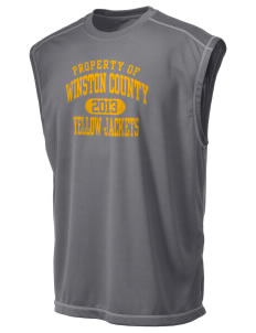 Winston County High School Yellow Jackets Champion Men's 4.1 oz Double Dry Odor Resistance Muscle T-Shirt