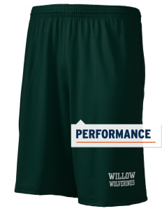 "Willow Elementary School Wolverines Holloway Men's Performance Shorts, 9"" Inseam"
