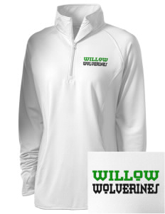 Willow Elementary School Wolverines Embroidered Ladies Stretched Half-Zip Pullover